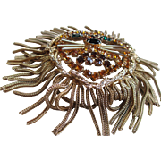 1960s Dominique Gold tone Lions Head Brooch/Pendant