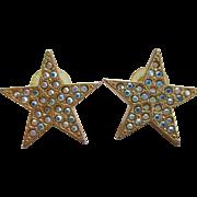 Kirks Folly Star /Rhinestone Post Earrings