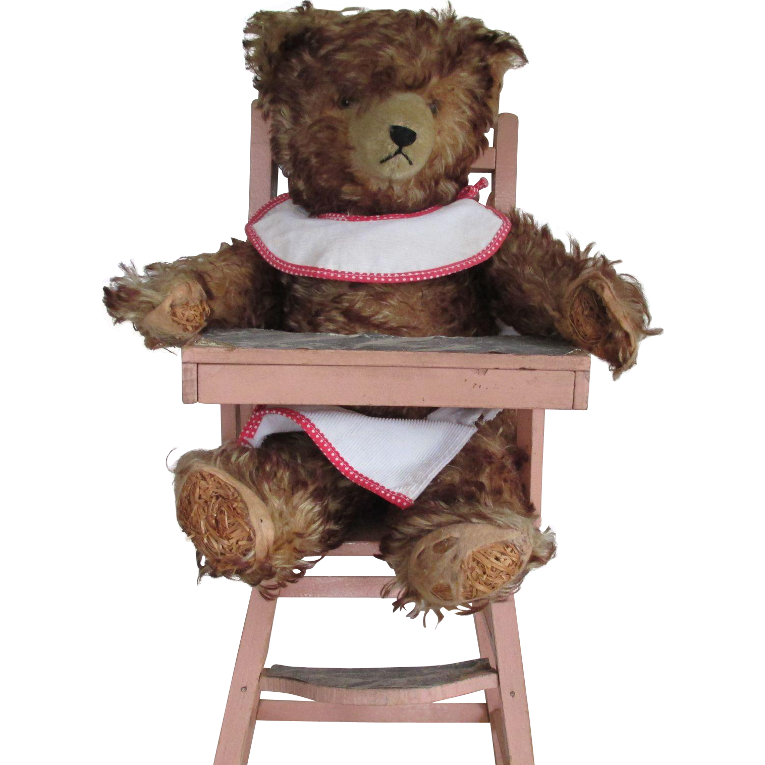 vintage mohair teddy bear high chair from. Black Bedroom Furniture Sets. Home Design Ideas