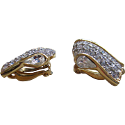 Givenchy Pair of Rhine stone Clip on Earrings