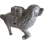 Vintage Cast Aluminum Dog Bank