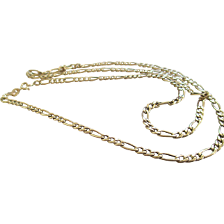 14 kt Yellow Gold Chain /Figaro Link