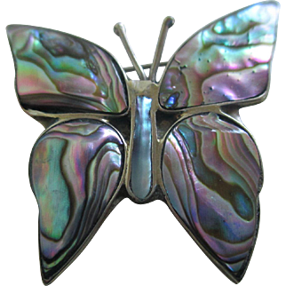 Vintage Abalone/ Butterfly Pin