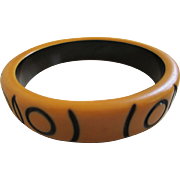1930's Bakelite Safari Style Bangle Bracelet