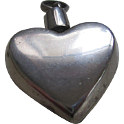 Tiffany & Co. 925 Sterling (Taxco) Perfume  Heart Pendent