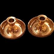 Virginia Metalcrafters Brass Travel Candleholders
