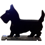 Virginia Metalcrafters Cast Iron Scottie Dog Black Boot Scrapper