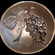 Vintage Massiv Zint Pewter ZINN 95% Germany Grapes Plate