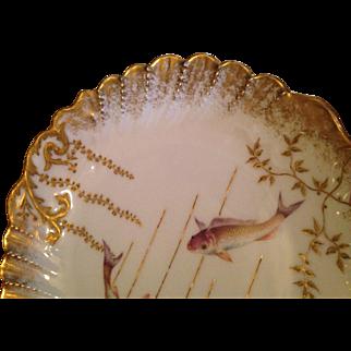 "Limoges Elite France Fish Plate 9 1/4""-Diameter"