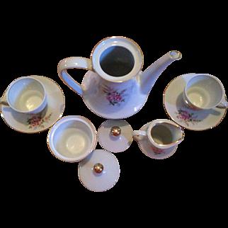 Mitterteich Baveria Tea Set With Pink Flowers