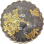 Cambridge Caprice Gold Gilded 50th Anniversary Round Serving Platter