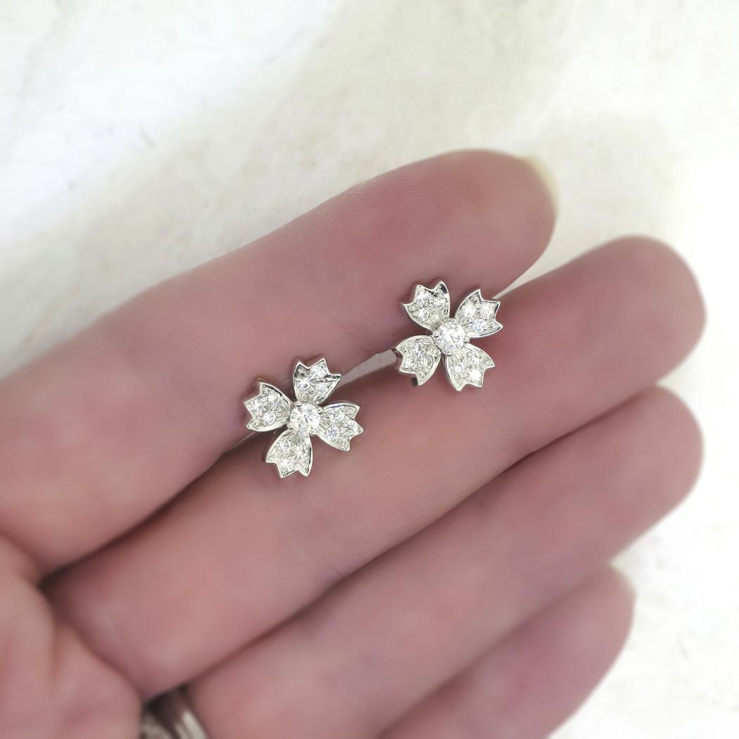 Tiffany Snowflake Earrings Sterling Silver