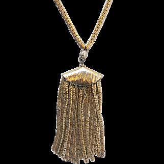 Vintage Napier Fringe Necklace