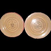 Burmese White Lacquerware Plates