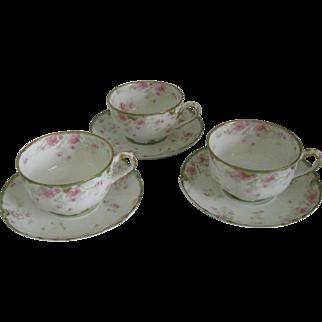 Antique Haviland Limoges Tea Cups
