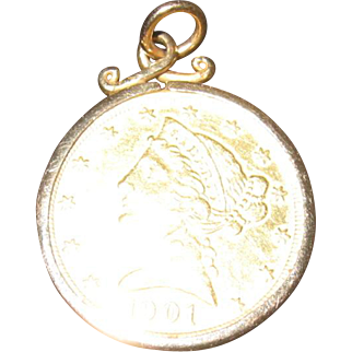1901 S Five Dollar Gold Piece