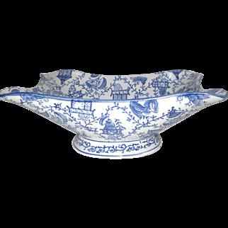 Blue & White Pedestal in Bowl
