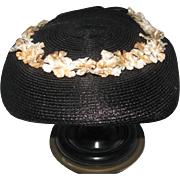 1940-50's Afternoon Straw Hat