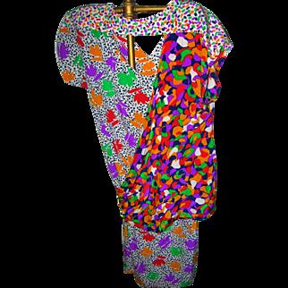 Escada Silk Dress 1980