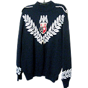 St. John Sweater/Eagle Emblem-Navy, Sz.12-14