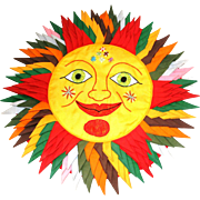 Hand-Crafted Sun Pillow Cover
