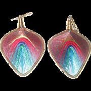 Large Silk Dangle Earrings
