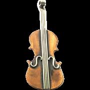 Copper Violin Pin - Red Tag Sale Item