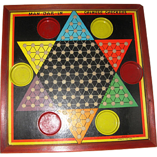 Mid-Century Chinese Checker Board
