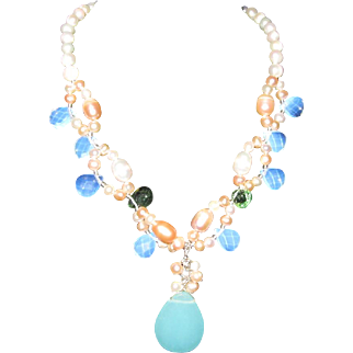 Opal & Pearl Necklace