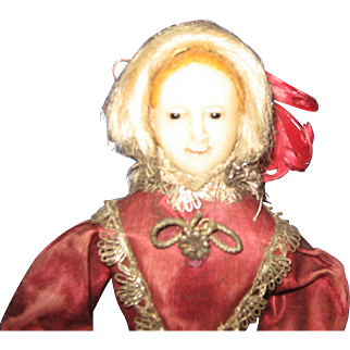 Wax Doll with incredible detail and outfit 1850's