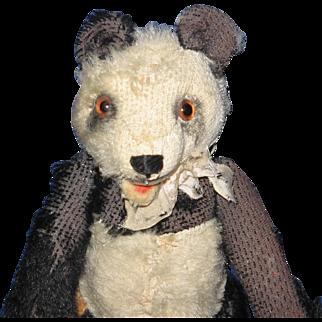"Steiff Mohair 6"" Worn Little Panda Bear"