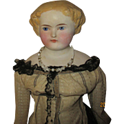 Antique Bisque shoulder Head doll 18""