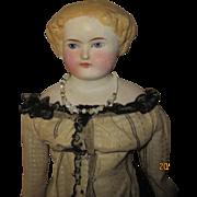 "Antique Bisque shoulder Head doll 18"""