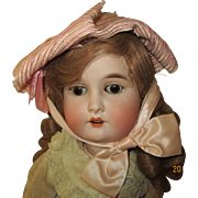 "Adorable 23"" Bisque head AW Special Germany Doll"
