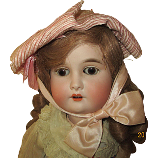 """Adorable 23"""" Bisque head AW Special Germany Doll"""