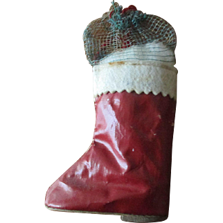"""Santa Boot Candy Container 5"""" Tall"""