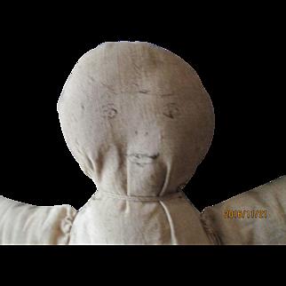"Handmade 10"" Cloth Doll drawn on face"