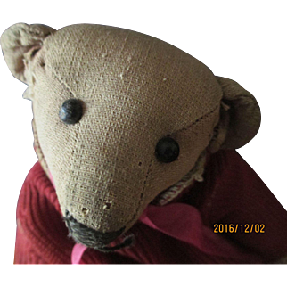 """Antique Teddy 9"""" Tall fully jointed"""