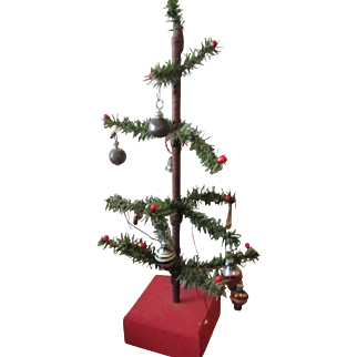 Antique Feather Tree with ornaments
