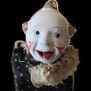 """Papier Mache squeek box Clown 5 1/2"""""""