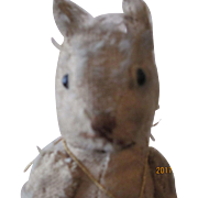 Antique Steiff Jointed Squirrel 7""