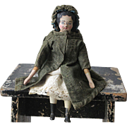 "Antique Wooden 12"" Doll"