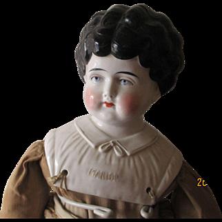 "Antique China Head Doll 24"" Tall"