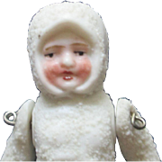 """All Bisque Jointed Snow Baby 3"""" tall ON HOLD"""
