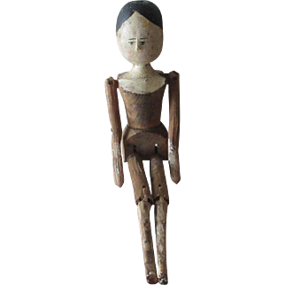 "Wooden Peg Doll 10"" Tall"