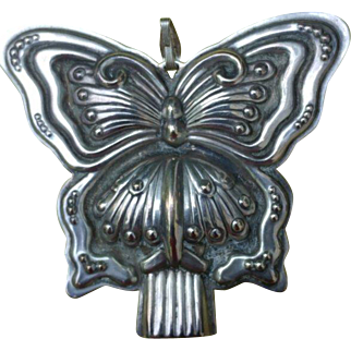 Nice Vintage Sterling Silver Reed & Barton Butterfly Whistle