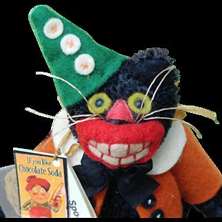 Wonderful 1st Edition Spooky Buttons by Jody Battaglia Halloween Black Cat