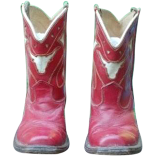 Vintage Small Child's Cowboy Boots