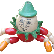 Vintage Jaymar Humpty Dumpty Jointed Wooden Toy