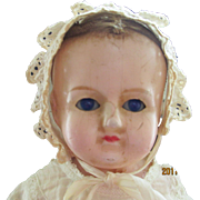 "Wax over sleep blue eyes squeeker 18"" tall"